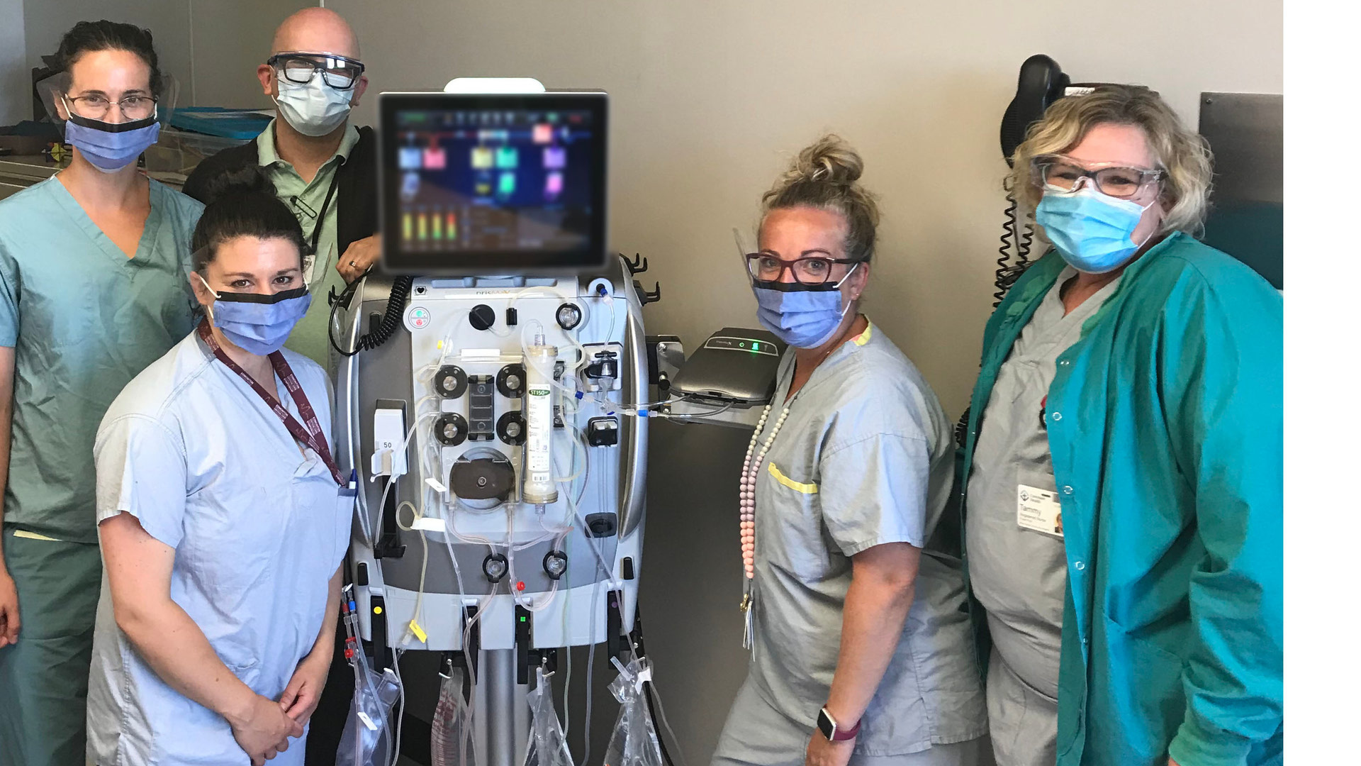 Donors support new lifesaving machine at Misericordia Hospital.